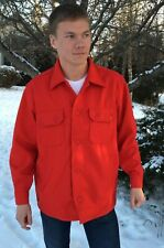 Updated Classic Red Wool Jac-Shirt w/Pockets & Silk Liner - Size XL - Scouting