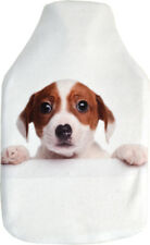 Deluxe Cosy Plush Fleece Puppy Dog Photo Print 2 Litre Hot Water Bottle & Cover