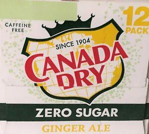 Canada Dry Zero Sugar Caffeine Free Ginger Ale Soda 12 pack