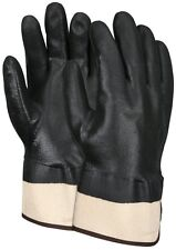 Memphis Glove, Black Double Dipped Jersey Lined, PVC Gloves, Large, 1 Pair