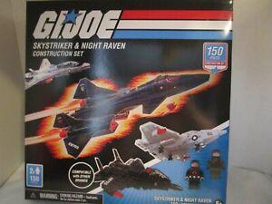 GI Joe Construction Set Skystriker & Night Raven w/ 2 Mini Figs & 150 Pieces NEW