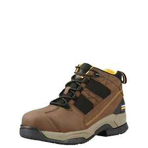 Ariat Men's Contender Brown Steel-Toe Lace-Up Boot, 10018552
