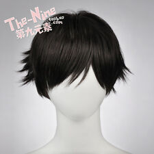 Haikyuu!! Keiji Akaashi Short Black Tilt Up Heat Resistent Cosplay Hair Wig E062