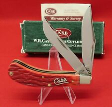 Case XX T.B. 62110 SS Dark Red Bone Saddlehorn, 2004 Mint Knife in Box #05919