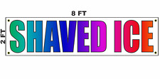 Shaved Ice Banner Sign 2x8 for Business Shop Building Store Front