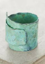 NWT Anthropologie Springbeam Swirl Ring Turquoise Blue Patina Vintage Look Wrap