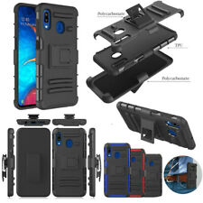 For Samsung Galaxy A20 A30 Shockproof Phone Case Belt Clip Stand Cover