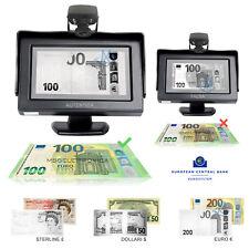 "Rivelatore Banconote False Real Vision 4,3"" Tester Infrared Money Detector"