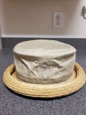 fb24d44fb68 Liz Claiborne Womens Summer Rolled Straw Brim Cotton Top Hat Cap
