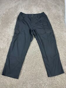 5.11 511 Tactical Series Cargo Pants Black Ripstop Canvas Men's Size 38 x 30 EUC