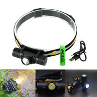 2000LM XM-L2 LED Headlamp USB Rechargeable 18650 Headlight Torch Lamp 5 Modes