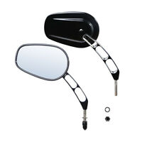 Oval Rear Mirrors Fit For Harley Sportster Dyna Bobber Chopper Street Glide US