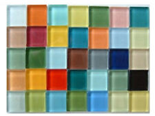100 ct - 3/8 inch CRYSTAL MIXED COLORS Glass Mosaic Tiles