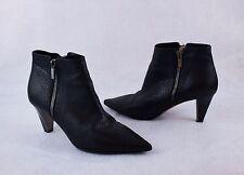 Jimmy Choo Hughie Black Leather Ankle Boots EU 38 (8 US) Retail $1,175 sale