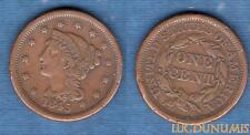 Etats Unis – One Cent 1845 TB + Braided Hair Cent – United States