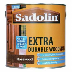 2.5lt Sadolin Extra Durable Woodstain Mahogany Teak Walnut and all other colours