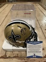 Marshon Lattimore Autographed/Signed Mini Helmet Beckett COA New Orleans Saints