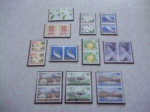 COOK ISLANDS STAMPS SG 163-73 Scott 148-58 IMPERF PAIRS OG NH Queen Elizabeth