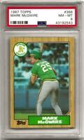 1987 Topps Card #366 Mark McGwire Oakland A's HOF PSA NM-MT 8  HOF  LOW POP