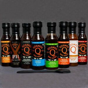 Kosmos Q's Ultimate BBQ Sauce 7 Pack with free Basting Brush