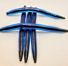 "5"" Custom Blue Shell with Black Core Shot Senko Style Worms 25pk"