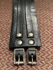 Buckle Black Adjustable Leather Cuff Wristwear 2