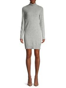 $455 THEORY DONEGAL CASHMERE TURTLENECK SWEATER DRESS LIGHT HEATHER MULTI MEDIUM
