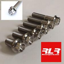 M10 Titanium bolts hexagon drilled head 1.25 pitch  M10x 20mm to 100mm