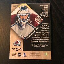 2029-20 Patrick Roy Black Diamond Triple Diamond Relic Card! 1/1
