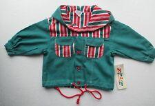 NEW baby summer jacket by designer Zip-Zap 100% cotton green + hood 9-12m