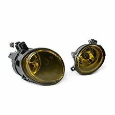 Pair Mtech YELLOW glass foglamps fog foglights fogs, BMW E46 E39, M Sport, M3 M5