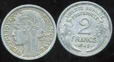 2 FRANCS  morlon alu 1945