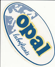 "AUTOCOLLANTGRAND MODELE (ANNEES 70) ""OPAL LUBRIFIANTS"" (AUTOMOBILE )"