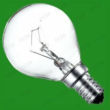 x 50 60w Incandescente Regulable Transparente Redondo GOLF Bombillas SES E14