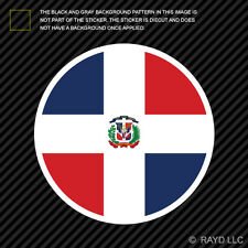 Round Dominican Flag Sticker Decal Self Adhesive Vinyl Dominican Republic do