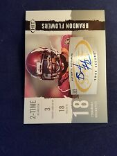 Brandon Flowers Pick #35 Virginia Tech Sage Hit 2008 Autographed Rookie Card