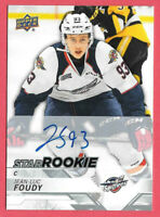 2018-19 Jean-Luc Foudy Upper Deck CHL Star Rookie Auto - Windsor Spitfires