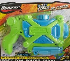 banzai blast force water pistol/gun shoots up to 20ft easy fill soak more & fast