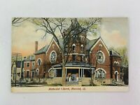 Methodist Church Macomb Illinois Vintage Postcard Building