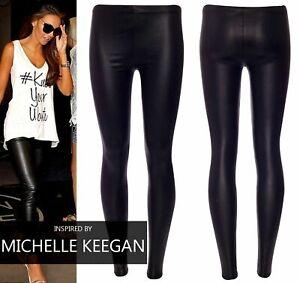 imitation leather Sexy shiny WET look & mat high waist full length LEGGINGS faux