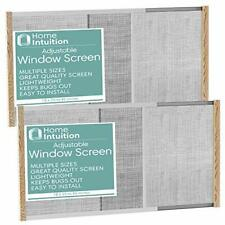 Home Intuition 2-Pack Adjustable Horizontal Window Screen 25-45 inches Wide, 18