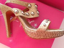 NAT SUI - Nude water snake high heel strappy shoe - size 37