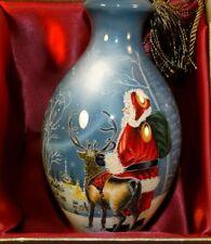 Ne Qwa Art Starry Night Santa Dona Gelsinger Reverse Paint Glass Christmas Orna