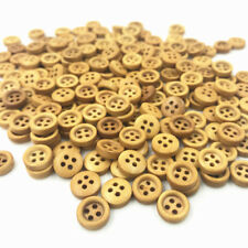 100pcs Mini Round Wooden Buttons 4-holes Sewing Scrapbooking Crafts 9mm