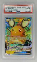 Pokemon Dedenne GX Unbroken Bonds #57 57/214 - PSA 10 Graded Rare Holo Sun Moon