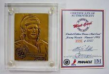 Teemu Selanne Winnipeg  Jets Highland Mint Solid Bronze Card w/ Case & COA