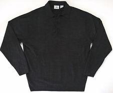 MUNSINGWEAR Mens Soft Gray Charcoal 100% Acrylic Long Sleeve Shirt Size L Large