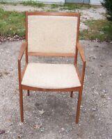 Vintage Mid Century Modern Teak Danish Armchair Lounge Chair