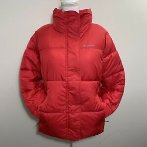 Columbia Women's Pioneer Summit Jacket Puffer Winter Coat Red Sz L