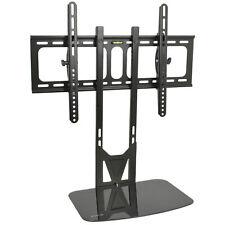 """VIVO Black 32"""" to 55"""" Fixed Tilt TV Wall Mount & AV, DVD Floating Shelving"""